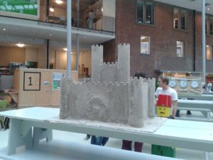 Sand castle prop for Dutch Design Week