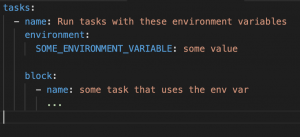 Ansible - environment variable in block